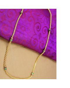 0300 Gm Golden Finish Chain With Cz Stones Enamel Online12919