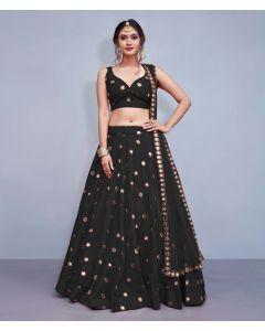 Black Silk Designer  Lehenga Choli