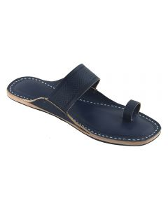 Premium Quality Dark Blue Toe Style Leather Flip Flop For Women