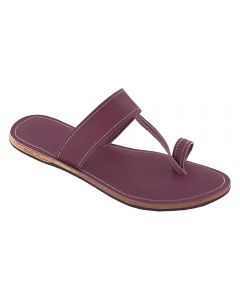 Premium Quality Simply Awesome Purple Handmade Kolhapuri Flip Flop Leather Chappal For Women