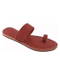 Premium Quality Cherry Red Toe Style Handmade Leather Kolhapuri Flip Flop