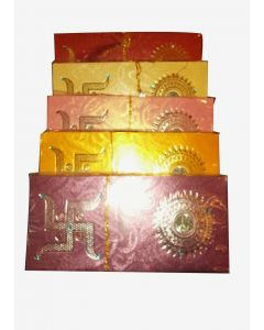 Metallic Shade Envelope With Coin ( pack of 10 )