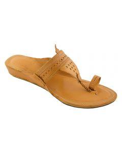 Premium Quality Gorgeous Dark Yellow Platform Heel Handcrafted Chappal For Women
