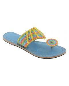 Premium Quality Eye-Catching Beadwork Handmade Kolhapuri Leather Sandal