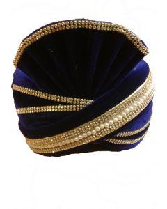 Blue groom Turban