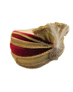 Fancy groom turban in multicolor contrast