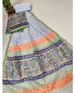 Banaras Chanderi Silk Lite Weight Saree18