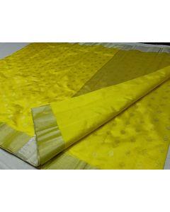 Chanderi Soft Silk Designer Fancy Silver Buttas Saree174