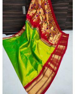 Paithani Handloom Kadiyal Silk Saree254
