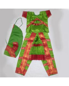 32 Inch Chest Size Green  color Bharathanatyam Readymade Dress