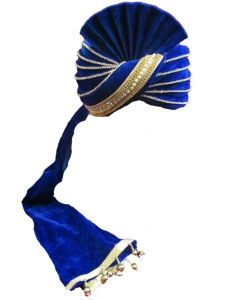 Royal blue groom turban