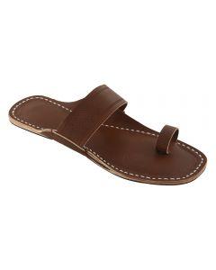Premium Quality Eye-Catching Toe Style Wooden Kolhapuri Leather Sandal For Men