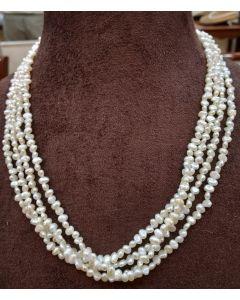 Irregular Natural Cream Pearls