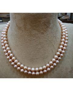 Round Peach Pearls