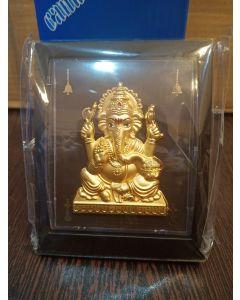 "Ganesh Gold Frame (4"" X 3"")-"