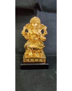 24 K Gold Coated Ganesh Idol