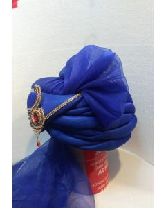 Groom turban in blue color