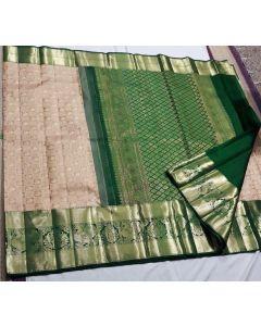 Kanchipuram Handloom Kuttu Pattern Pure Silk Saree