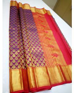 Kanchipuram Handloom Pure Silk Wedding Saree