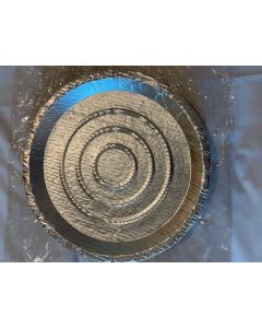 Leaf Plates silver small round plates