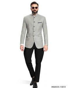 Grey Cotton Self Jodhpuri