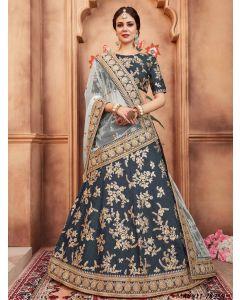 Green Silk Thread Wedding & Bridal Designer Lehenga Choli