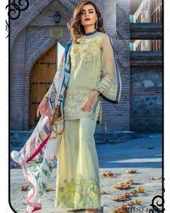 Green Georgette Resham Ceremony Designer Salwar Kameez