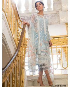 Blue Net Embroidery Party Designer Salwar Kameez Salwar Kameez