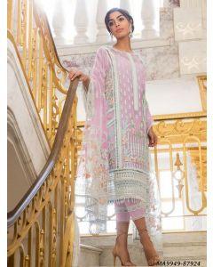 Pink Net Embroidery Party Designer Salwar Kameez Salwar Kameez