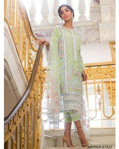 Green Net Embroidery Party Designer Salwar Kameez Salwar Kameez