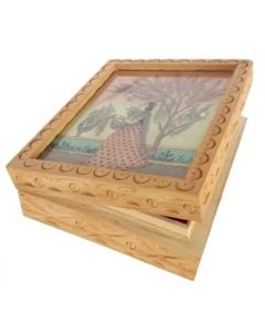 Wooden Jewellery Box_5.5*4.5. There Will Be Slight Variation In Delivered Products Vs Image. Some Brands May Be Replica.