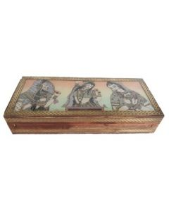 Wooden Jewellery Box_10*4.5. There Will Be Slight Variation In Delivered Products Vs Image. Some Brands May Be Replica.