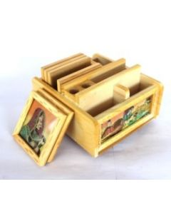 Wooden Box_6*6. There Will Be Slight Variation In Delivered Products Vs Image. Some Brands May Be Replica.
