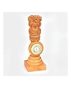 Wooden Ashoka Piller Watch Stand_8''. There Will Be Slight Variation In Delivered Products Vs Image. Some Brands May Be Replica.
