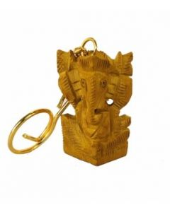 Wooden Ganesh Key Chain_. There Will Be Slight Variation In Delivered Products Vs Image. Some Brands May Be Replica.