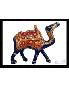 Camel Kathi White Metal Meena Work_3 Inches. There Will Be Slight Variation In Delivered Products Vs Image. Some Brands May Be Replica.