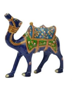 Camel Kathi White Metal Meena Work_4 Inches. There Will Be Slight Variation In Delivered Products Vs Image. Some Brands May Be Replica.