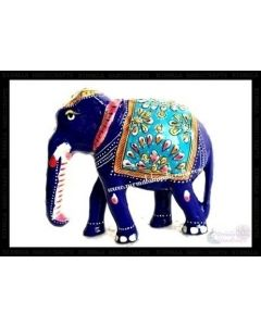 Elephant T/D White Metal Meena Work. There Will Be Slight Variation In Delivered Products Vs Image. Some Brands May Be Replica.