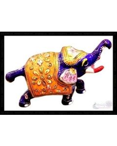 3 Lag Baby Elephant White Metal Meena Work. There Will Be Slight Variation In Delivered Products Vs Image. Some Brands May Be Replica.