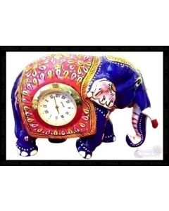Watch Elephant  White Metal Meena Work. There Will Be Slight Variation In Delivered Products Vs Image. Some Brands May Be Replica.