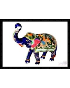 Shikar Painting Elephant    White Metal Meena Work. There Will Be Slight Variation In Delivered Products Vs Image. Some Brands May Be Replica.