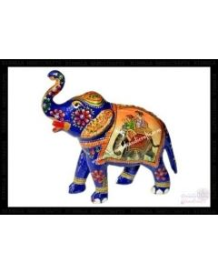 Ambabari Painting Elephant    White Metal Meena Work. There Will Be Slight Variation In Delivered Products Vs Image. Some Brands May Be Replica.