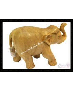 Wooden Plain Elephant