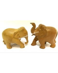Wooden Paine Elephant_2 Inches. There Will Be Slight Variation In Delivered Products Vs Image. Some Brands May Be Replica.