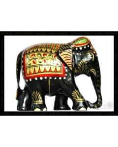 Wooden Painting Elephant_2.5 Inches. There Will Be Slight Variation In Delivered Products Vs Image. Some Brands May Be Replica.