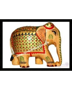 Wooden Painting Elephant_4 Inches. There Will Be Slight Variation In Delivered Products Vs Image. Some Brands May Be Replica.