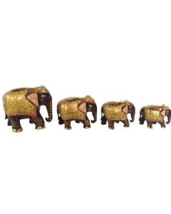 Wooden Painting Elephant Set_2 Inches  2.5 Inches  3 Inches  4 Inches.. There Will Be Slight Variation In Delivered Products Vs Image. Some Brands May Be Replica.