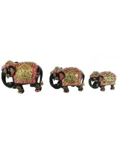 Wooden Painting Elephant Set_2.5 Inches  3 Inches  4 Inches  . There Will Be Slight Variation In Delivered Products Vs Image. Some Brands May Be Replica.
