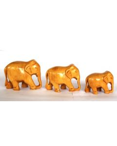 Wooden Plaine Elephant Set_2 Inches  2.5 Inches  3 Inches'. There Will Be Slight Variation In Delivered Products Vs Image. Some Brands May Be Replica.