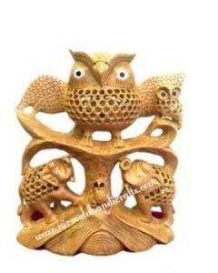 Wooden Owl Tree Figer